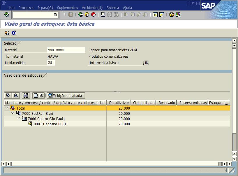SAP MM - Controle de estoques
