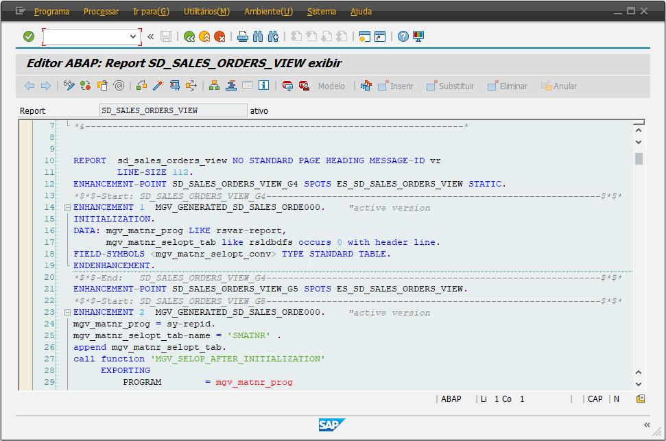 SAP ABAP - Fonte